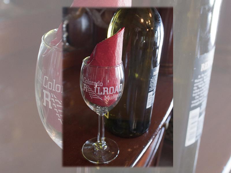 Colorado Railroad Museum Wine Glass