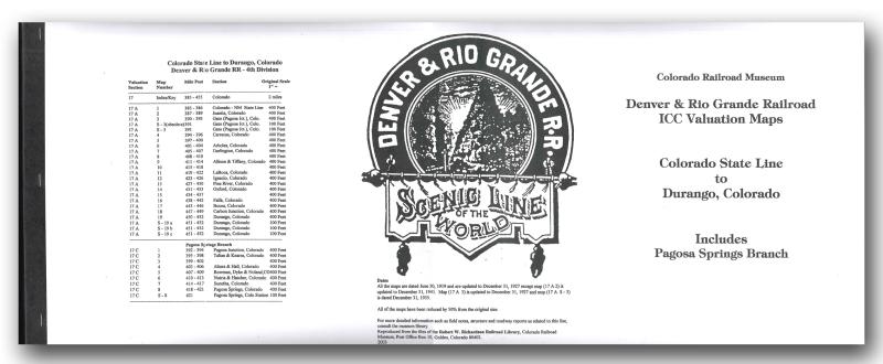 ICC Map Set No. 02 - D&RG Colorado State Line to Durango, CO