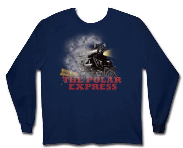 """Polar Express """"Locomotive"""" Boys Long Sleeve Shirt,129492-XL"""