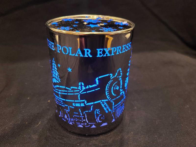 Polar Express Lighted LED Cylinder Tabletop Decor,SL160005