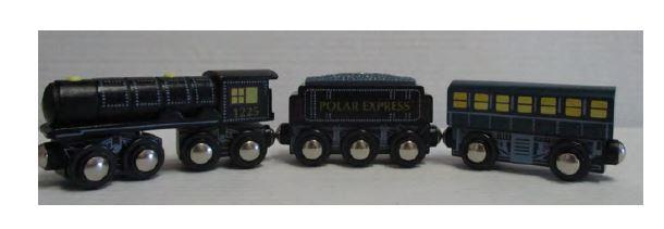 Lionel 3 Piece Polar Express Wooden Train,7-11900