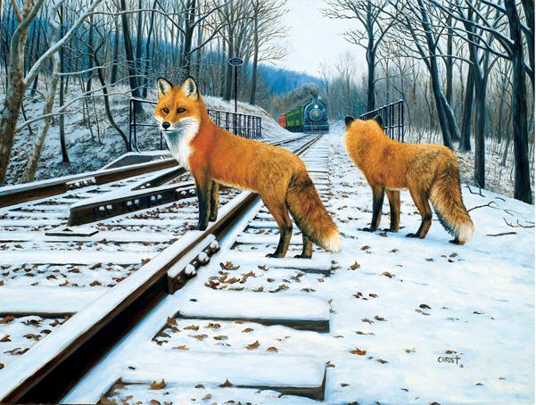 Fox Tracks - 500 Piece Puzzle,48810