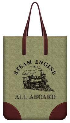 Steam Train Tote Bag