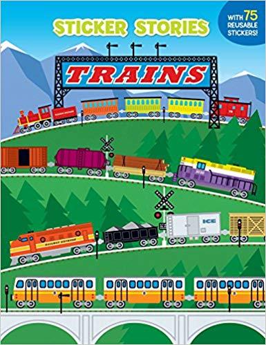 Trains (Sticker Stories),9780448418261